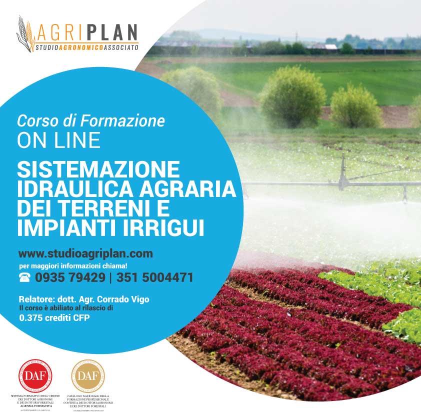 Sistemazione idraulica agraria dei terreni e impianti irrigui